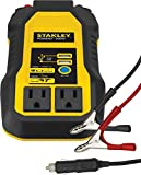 STANLEY PI500S Power Inverter 500W Car Converter: Dual AC Outlets, 3.1A USB Ports