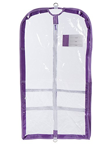 Clear Plastic Garment Bag with Pockets for Dance Competition