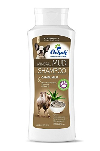Deep Milk - Ochah All-Natural Mineral Mud Shampoo- DEEP HYDRATE with Camel Milk, Aloe Vera, Vitamin E- Soothes, Moisturizes and Heals your Pet's Skin and Coat- 16.9oz