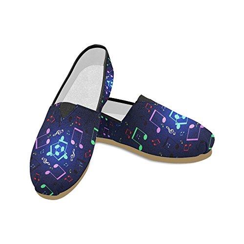 M-story Fashion Sneakers Flat Mare Wave Donna Classic Slip-on Scarpe Di Tela Mocassini Multi12