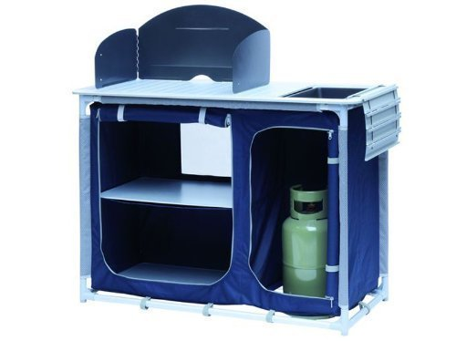 Design Campingküche (Reiseküche, faltbar, leicht, ideal zum Campen oder fürs Vorzelt)