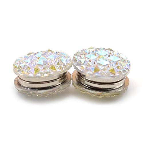 Guoainn Cute Christmas Brooch 1 Pair Round Rhinestone, used for sale  Delivered anywhere in USA