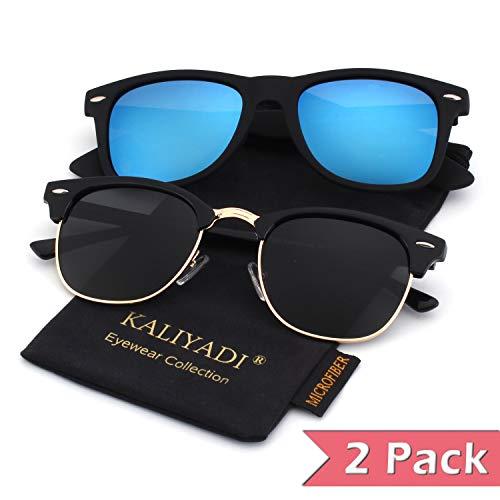 7fb25526bbc02 Unisex Polarized Semi Rimless Horn Rimmed Sunglasses for Men Women Driving Sun  Glasses:UV400 Protection