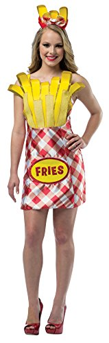 French Fancy Fries Dress Costume (UHC Women's French Fry Foodie Outfit Funny Theme Fancy Dress Halloween Costume,)