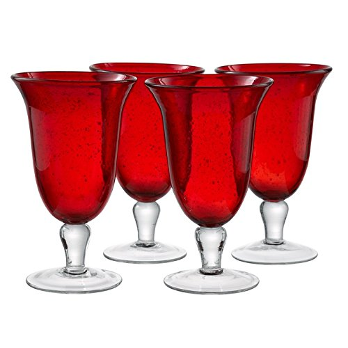 Artland 50603B Iris Ice Tea Glass, Set Of 4, 18 oz, Ruby ()