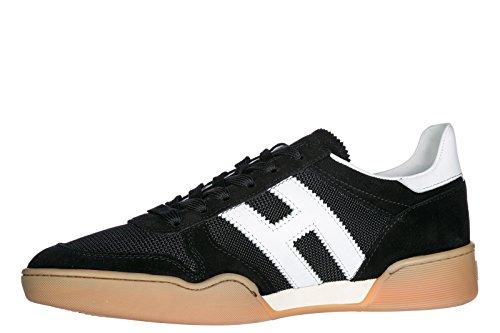 Hogan Uomo Scarpe Sneakers In Camoscio Scarpe H357 Nere