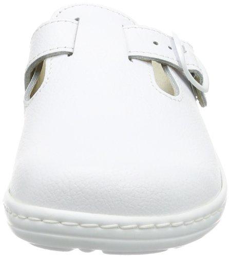 Dr. Brinkmann 700746 - Zuecos Mujer Blanco (Weiß (Weiß 3))