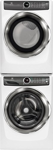 Electrolux White Front Load Laundry Pair with EFLS527UIW 27″ Washer, EFME527UIW 27″ Electric Dryer and STACKIT7X Stacking Kit