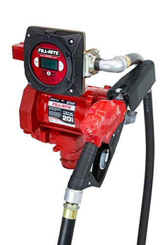 Fill-Rite FR711VBD 115V 20 GPM Fuel Transfer Pump with Discharge Hose, Automatic Nozzle, & Digital Meter