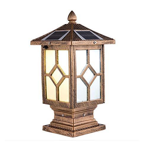 Jolly Imperial Bulb Solar Post Lamp, Outdoor Solar Powered Light, Pole Post Mount