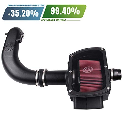 S&B Filters 75-5016 Cold Air Intake for 2005-2008 Ford F150 V8 5.4L (Oiled Cleanable, 8ply Cotton Filter)
