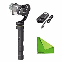 EACHSHOT® Feiyu FY-G4S 4 Modes 360 Degree Moving 3-Axis Handheld Steady Gimbal for GoPro Hero 3 3+ 4 Feiyu G4 update version With Wired Remote Control + EACHSHOT® Cleaning Cloth