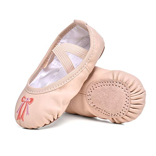 Image of STELLE Girls Ballet Practice Shoes, Yoga Shoes for Dancing(Nude, 10M Toddler)