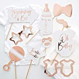 Ginger Ray Rose Gold Baby Shower Photo Booth Props - 10 Pack - Twinkle