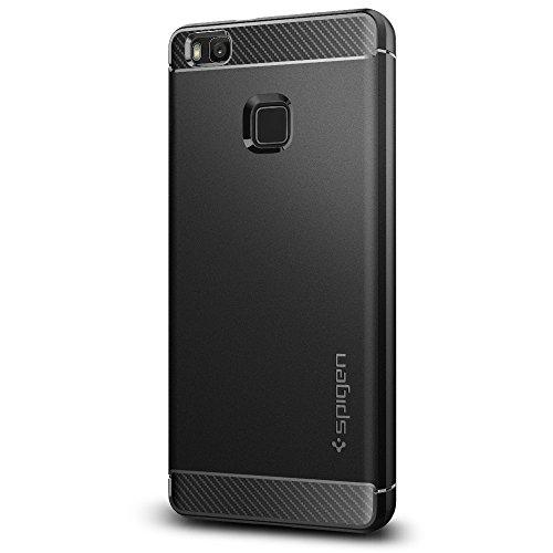 Spigen Rugged Armor Designed for Huawei P9 Lite Case (2016) - Black (Best Huawei P9 Lite Case)