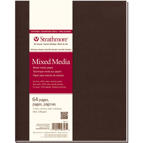 "Strathmore 567-7 500 Series Softcover Mixed Media Art Journal, 7.75""x9.75"" 32 Sheets from Strathmore"