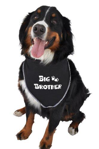 Ruff Ruff and Meow Doggie Bandana, Big Brother, Black, Medium, My Pet Supplies