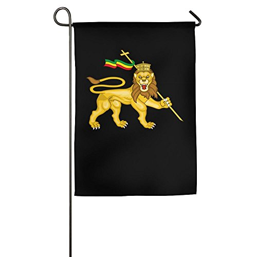 (UDSNIS Rasta Lion Judah Garden Flag 12 X 18 Inch Size Banner For Yard Decor)