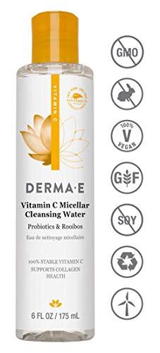 DERMA E Vitamin C Micellar Cleansing Water, - Toner C Antioxidant Vitamin