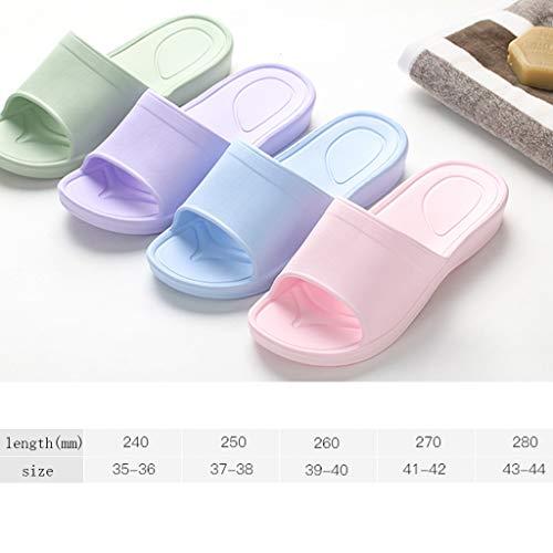 Baignoire Pink Fond Bains Salle Modèles Bleu Slip Ménage Doux Couleur 38EU De 37 Cool Maison Chaussures AMINSHAP Non Confortable Couple Féminins Pantoufles Taille wqxOvUzUA