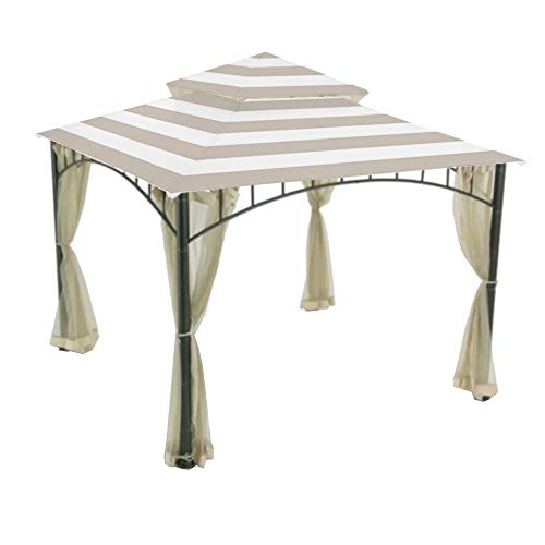 Garden Winds Replacement Canopy Top Cover for The Madaga Gazebo - Cabana Beige (Tops Replacement Cabana)