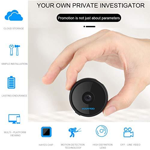 (Wanzi2 Mini Wide Angle150 Degrees Camera HD 1080P DVR DV Video Camcorder Night vision10 M - for Home (Black))