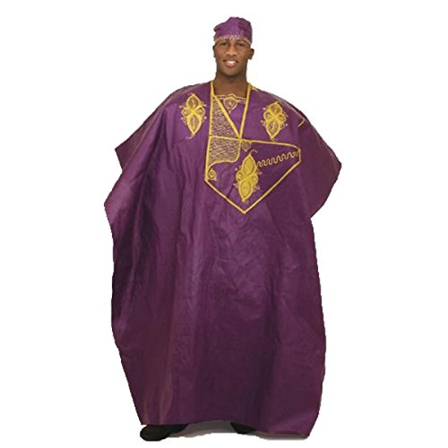 Embroidered Grand Boubou - Purple by utopia africa
