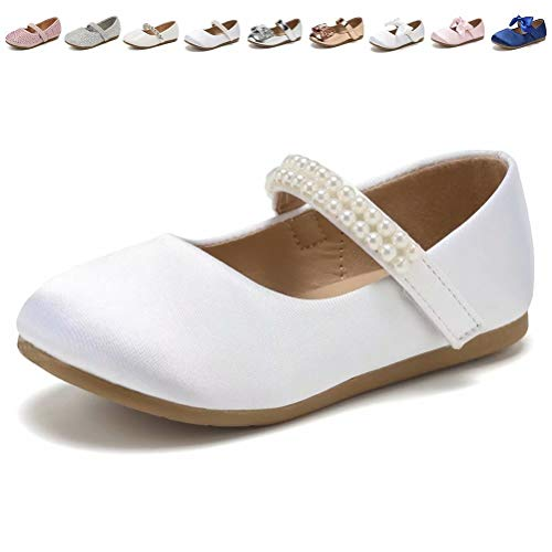 CIOR Toddler Girls Ballet Flats Shoes Ballerina Princess Dress Bowknot Jane Mary Wedding -
