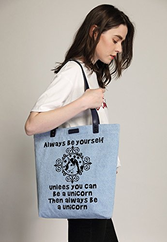 Denim Women's Alway Tote Shopper Bleu Unicorn Shoulder Bag So'each Be Dye Handbag wSpHaqnqdI