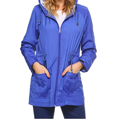 Coat Blu Lunga Outwear Leggero Packable Impermeabile Wind Fangcheng Con Cappuccio Casual Donne Manica 7x4qAEw6z
