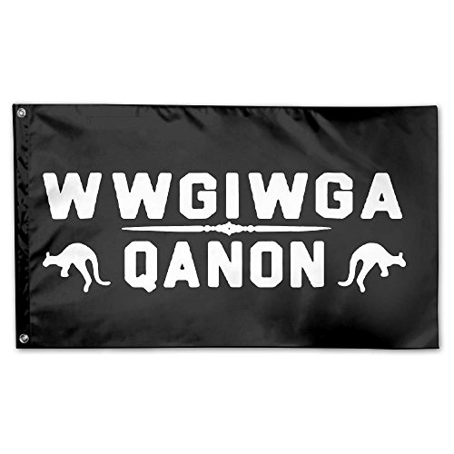 Q Anon WWG1WGA 100% Polyester House Flag Decorative Garden F