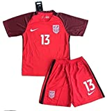 2017-2018 Alex Morgan #13 New USA National 3rd Jersey and Shorts for Kids/Youth (9-10 Years Old)
