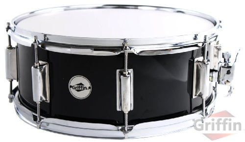 griffin-snare-drum-14-x-55-wood-shell-black-ebony-percussion-poplar