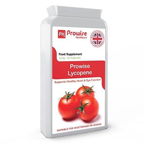 PROWISE LYCOPENE 15mg 120 cápsulas, UK Made GMP Calidad Garantizada, Apta para vegetarianos y veganos: Amazon.es: Salud y cuidado personal