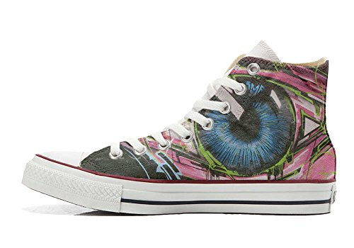 Converse All Star Customized - zapatos personalizados (Producto Artesano) Street Eyes