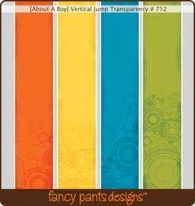 Fancy Pants - Creative Expressions - Transparency Overlays Vertical Jump 12 Pack ()