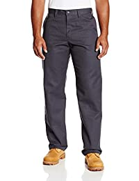 """Dickies Occupational Workwear LP812CH 40x32 Polyester/ Cotton Relaxed Fit Men's Industrial Flat Front Pant with Straight Leg, 40"""" Waist Size, 32"""" Inseam, Dark Charcoal"""