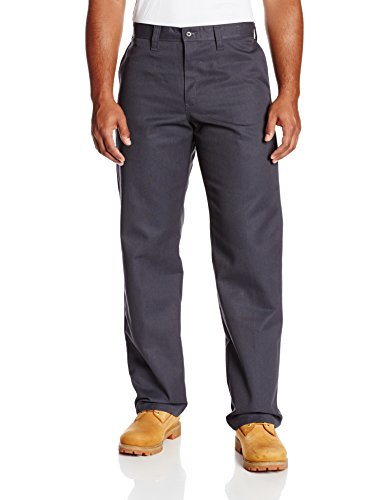 "Dickies Occupational Workwear LP812CH 44x30 Polyester/ Cotton Relaxed Fit Men's Industrial Flat Front Pant with Straight Leg, 44"" Waist Size, 30"" Inseam, Dark Charcoal"