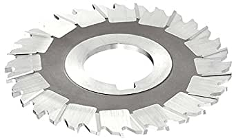 10 Cutting Diameter Standard Cut KEO Milling 03281 Staggered Tooth Milling Cutter,S Style 11//16 Width HSS 1-1//2 Arbor Hole 32 Teeth TiN Coating