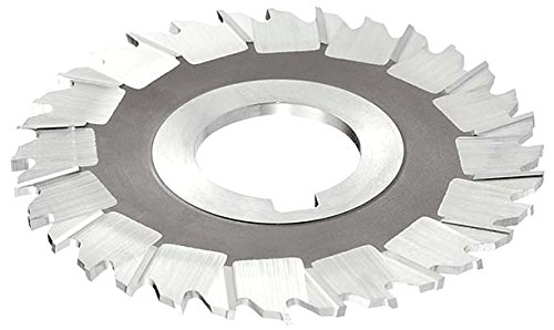 KEO Milling 07961 Staggered Tooth Slitting Saw, ''MS'' Style, 1/8'' Width, 1-1/4'' Arbor Hole, 48 Teeth, 8'' Cutting Diameter, HSS, TiN Coating by KEO Milling