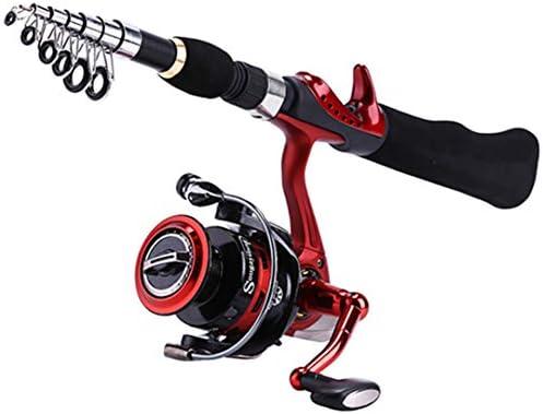 Fishaneoosg Spinning caña de Pescar con BD2000 Reel Set Olta 1.65M ...