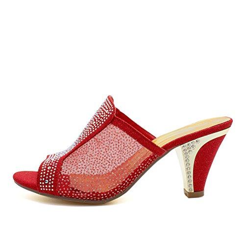 l'arrière London femme Ouvertes à Footwear red wAZPv