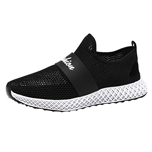JJLIKER Men's Air Mesh Cut Out Sneakers Breathable Lightweight Walking Shoes Slip On Sports Trail Running Shoes -