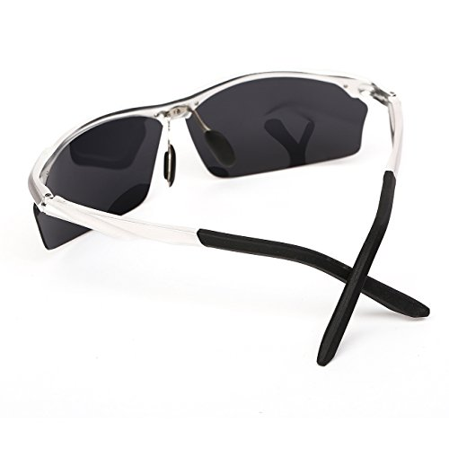 0097a553c0 Ronsou Men Sport Al-Mg Alloy Frame Polarized Sunglasses Fashion Driving  eyewear silver frame