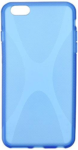 BoxWave Étui iPhone 6 et iPhone 6 Plus Body, en Gel silicone TPU texturé pour Apple iPhone 6 Plus Premium Super Absorption des chocs (Bleu)