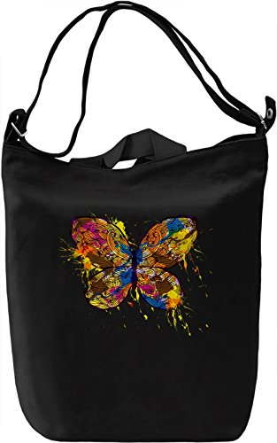 Butterfly Borsa Giornaliera Canvas Canvas Day Bag| 100% Premium Cotton Canvas| DTG Printing|