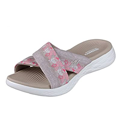 a418a53d9 Skechers On The Go 600 Monarch Taupe Floral Women s Comfort Sandals   Amazon.co.uk  Shoes   Bags