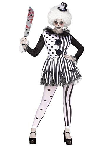 Fun World Women's Killer Clown Costume Medium White -