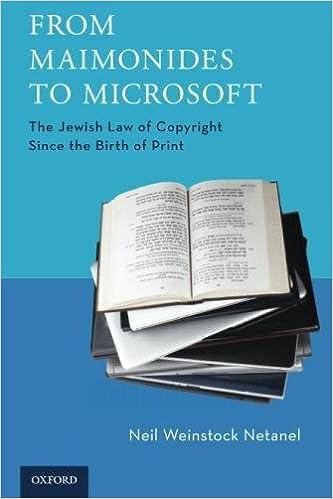 Amazon.com: From Maimonides to Microsoft: The Jewish Law of ...