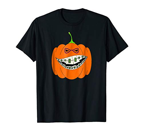 Halloween Pumpkin Braces Orthodontics Horror Dentist -